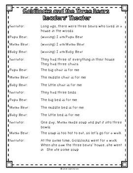 Goldilocks and the Three Bears by Sara Shapiro, Guided Reading Plan Level F
