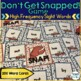 High Frequency Sight Word Game - Don't Get Snapped!