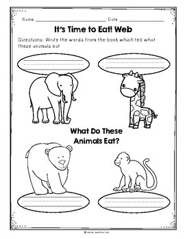 It's Time to Eat by Avelyn Davidson, Guided Reading Lesson Plan, Level C