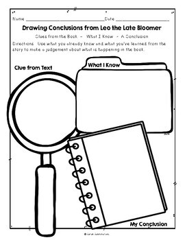 Leo the Late Bloomer Robert Kraus, Guided Reading Plan Level I