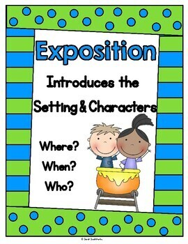 Plot or Story Elements Posters, Puzzles, & Plot Line Worksheet