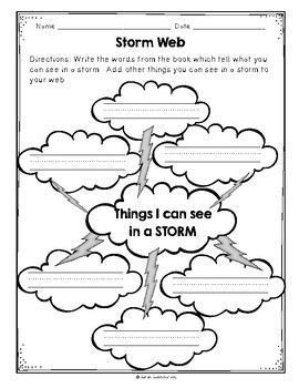 The Storm by Avelyn Davidson, Guided Reading Lesson Plan, Level A