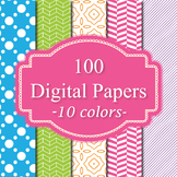 Digital Papers - Background Papers 100 Set 3