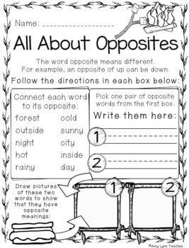 100 Kindergarten Camping Theme No Prep Language, Reading, Writing, & Math Work
