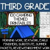 Third Grade Camping Themed Printables