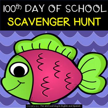 100th Day of School - Scavenger Hunt