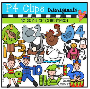 12 Days of Christmas (P4 Clips Trioriginals Clip Art)