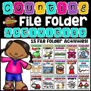 15 Counting File Folder Activities - Numbers 0-10