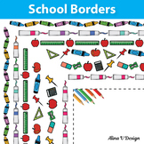 School Supplies Borders and Frames