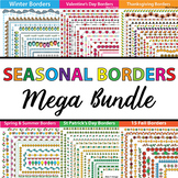 Seasonal Page Borders and Frames - 404 Winter Borders. Val