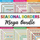 Seasonal Page Borders and Frames - 404 Spring Borders