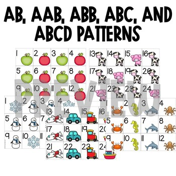 Calendar Numbers for the Whole Year | AB, AAB, ABB, ABC, ABCD Patterns