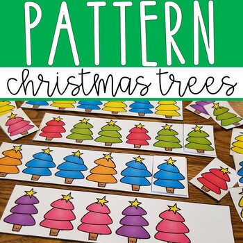 Christmas Tree Patterns Math Center Activity