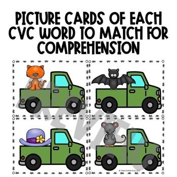 Drive, Read and Match CVC Words | Blending Center Activity
