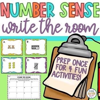 Number Sense Write the Room {Counting, 10 Frames, Tally Marks, & Place Value}
