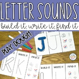 Hands on Play Dough Letter Recognition & Beginning Sound Activity