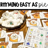 Thanksgiving Rhyming Activity with Worksheet