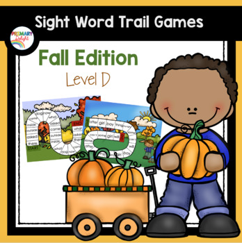 Sight Word Path Games for Kindergarten - Fall (Autumn) - Level D