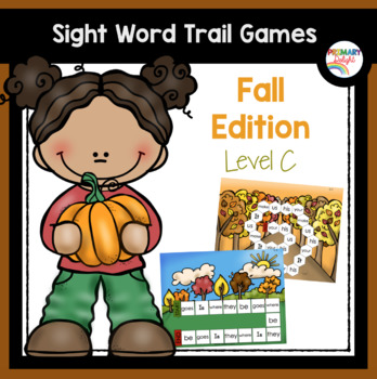Sight Word Path Games for Kindergarten - Fall (Autumn) - Level C