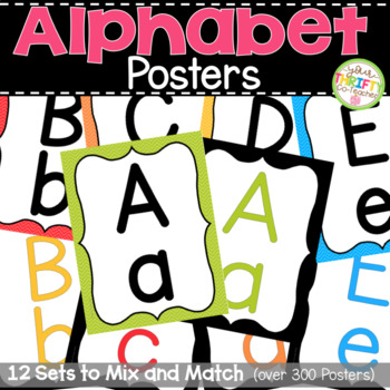{50% OFF 1st 24 HOURS} Alphabet Posters - Alphabet Wall Cards
