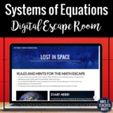 Systems of Equations Digital Escape Room