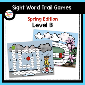 Spring Kindergarten Sight Word Games - Level B