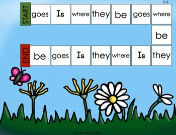 Sight Word Games for Kindergarten - Spring (Level C)