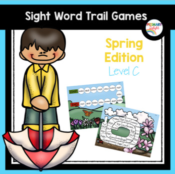 Sight Word Games for Kindergarten - Spring (Level C)