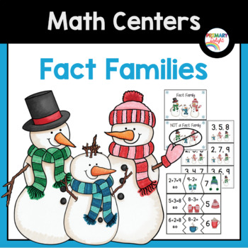 Fact Families (Addition and Subtraction): Winter Math Centers
