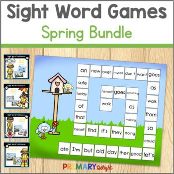Sight Word Games for Kindergarten - Spring BUNDLE