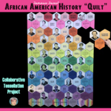 """Black History Month African American History """"Quilt"""" Tessellation Collab Poster"""