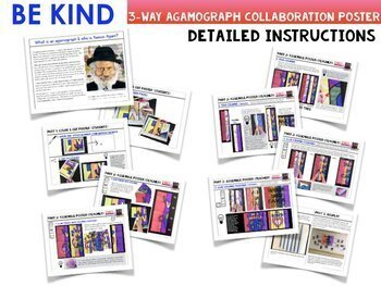 """Be Kind"" Collaboration Agamograph Kindness Poster"