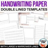 Double Lined Handwriting Paper, Draw & Write Templates