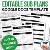 Editable Sub Plan Template, Casual Relief Teacher Notes Su