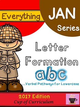 Everything JAN Series...Letter Formation {Lowercase}