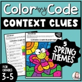 Context Clues Color by Number   Spring Pack