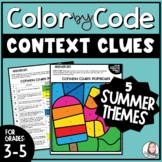 Context Clues Color by Number Summer Pack