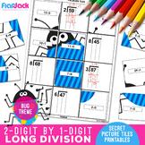 Long Division Worksheets | 2 Digit by 1 Digit | Secret Pictures