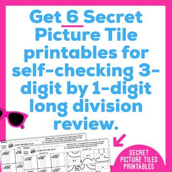 Long Division Worksheets   3 Digit by 1 Digit   Secret Pictures