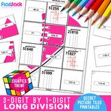 Long Division Worksheets | 3 Digit by 1 Digit | Secret Pictures