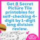 Long Division Worksheets | 4 Digit by 1 Digit | Secret Pictures