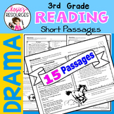 Reading Comprehension Passages Drama 3rd Grade