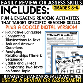 Reading Strategies Fall Mystery Pictures: Cause & Effect, Illustrations in Text