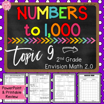 **50% OFF 24 Hours** Envision Math 2.0 Topic 9 Review Numbers to 1,000