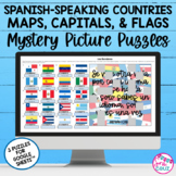 Spanish Speaking Countries Maps Capitals Flags 3 Mystery Puzzles Google Sheets