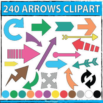 240 Arrows Clip Art