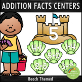 Addition Facts 1-12 Centers Beach Theme