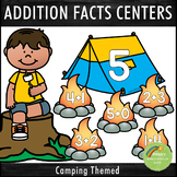 Addition Facts 1-12 Centers Camping Theme