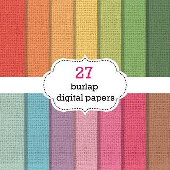 Burlap Digital Papers - Burlap Background Papers