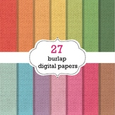 Burlap Digital Papers - Burlap Background Papers
